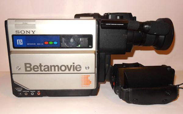 Risultati immagini per prima videocamera nastro 8mm sony 1980